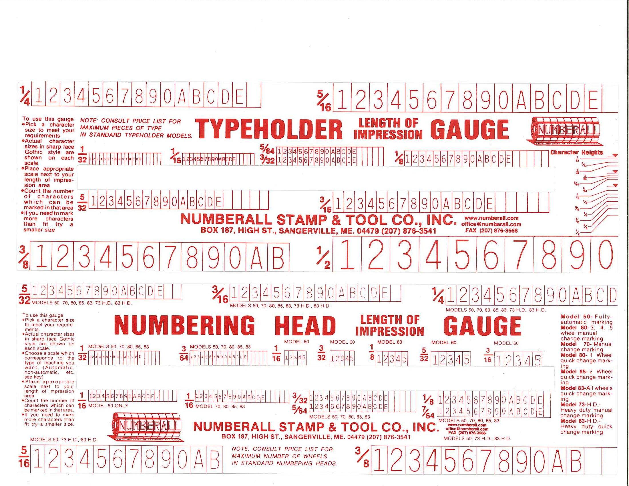 Length Impression Ruler