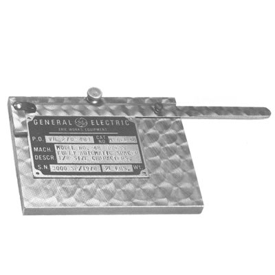 Numberall Model 110 Universal Name Plate Holder