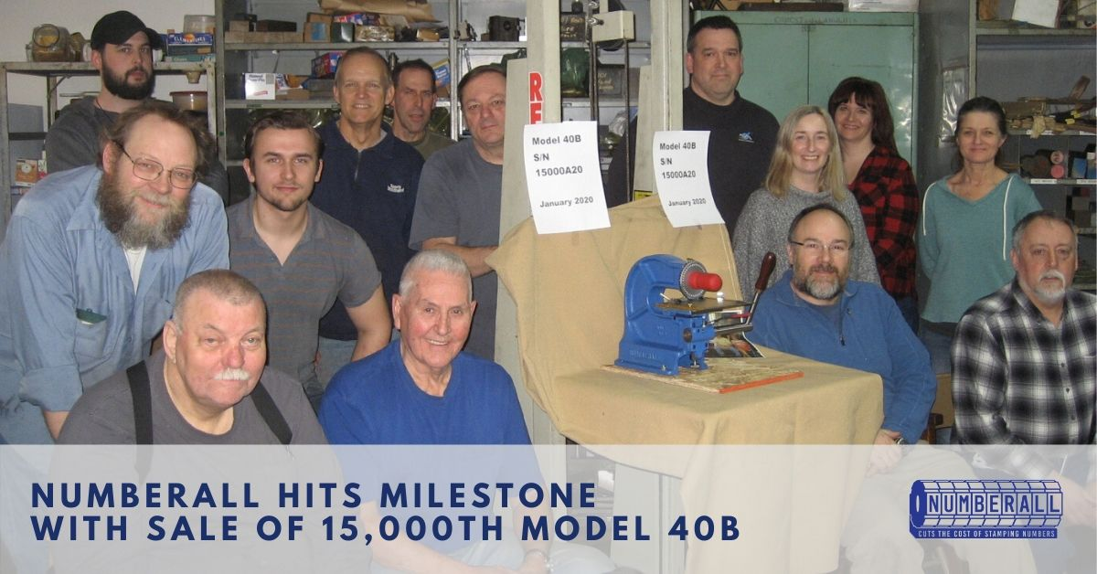 Numberall Team   Numberall Hits Milestone with Sale of 15,000th Model 40B